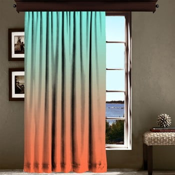 Draperie Curtain Tageho, 140 x 260 cm, portocaliu - turcoaz imagine