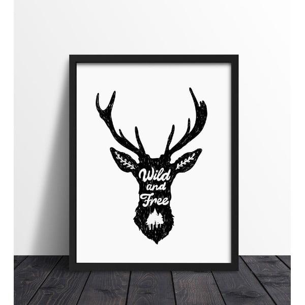 Zarámovaný plakát We Love Home Wild White, 40x50cm