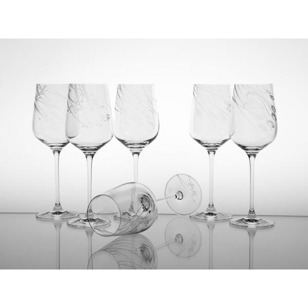 Ateliér Žampach, set 6 ks skleniček na bílé víno Traviny dolů