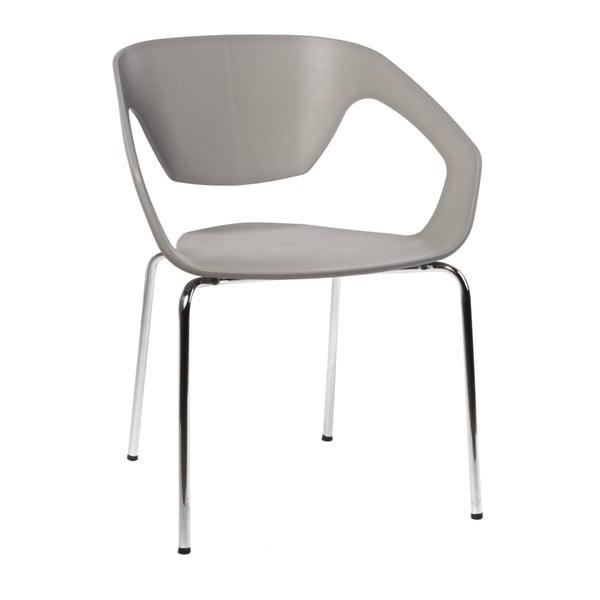 Sada 2 šedých židlí D2 Space