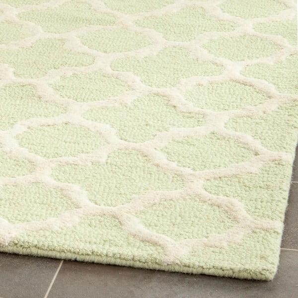 Vlněný koberec Bessa Light Green, 121x182 cm
