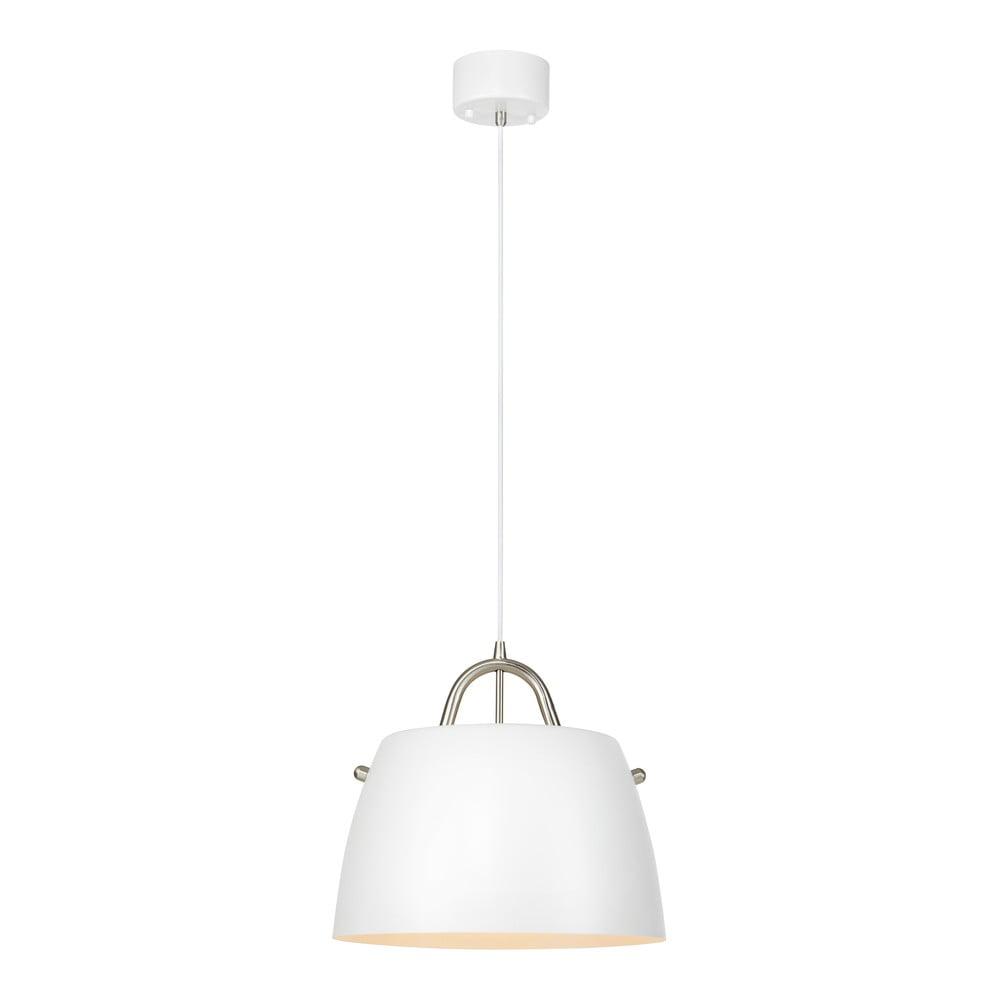Bílé závěsné svítidlo Markslöjd Spin Pendant White