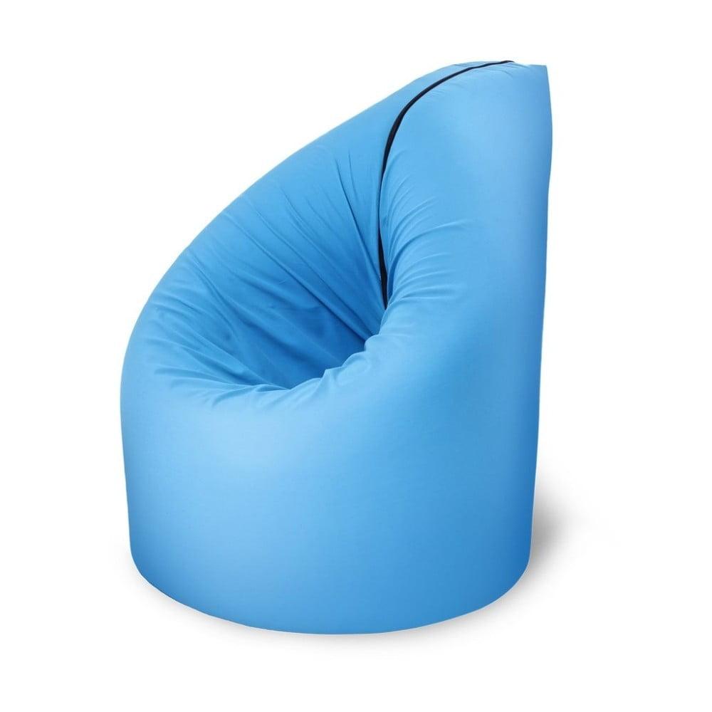 Modrá rozkládací postel s křesílkem Paq Bed