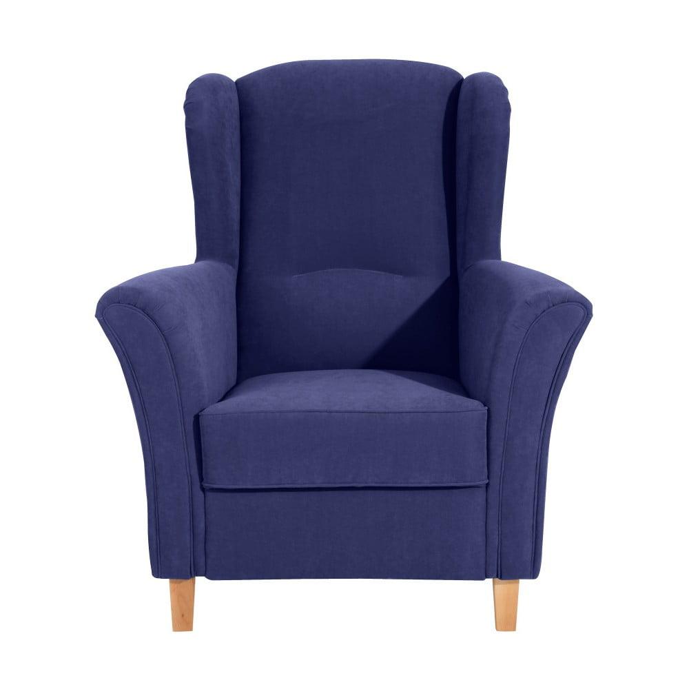 fotoliu max winzer agnetha velvet albastru bonami. Black Bedroom Furniture Sets. Home Design Ideas
