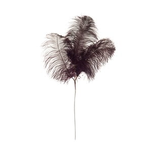 Dekorativní pštrosí peří Aubergine, výška 61 cm