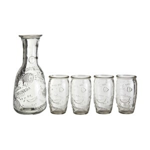 Set karafy a 4 sklenic Premier Housewares Embossed