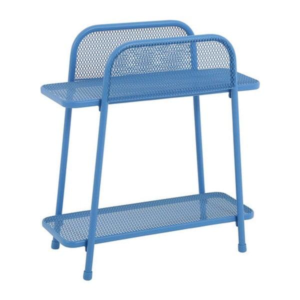 Modrý kovový odkládací stolek nabalkon ADDU MWH, výška 70cm