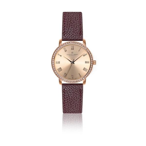 Dámské hodinky s vínovým páskem z pravé kůže Frederic Graff Ruinette