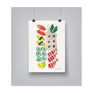 Poster Americanflat Sushi, 30 x 42 cm