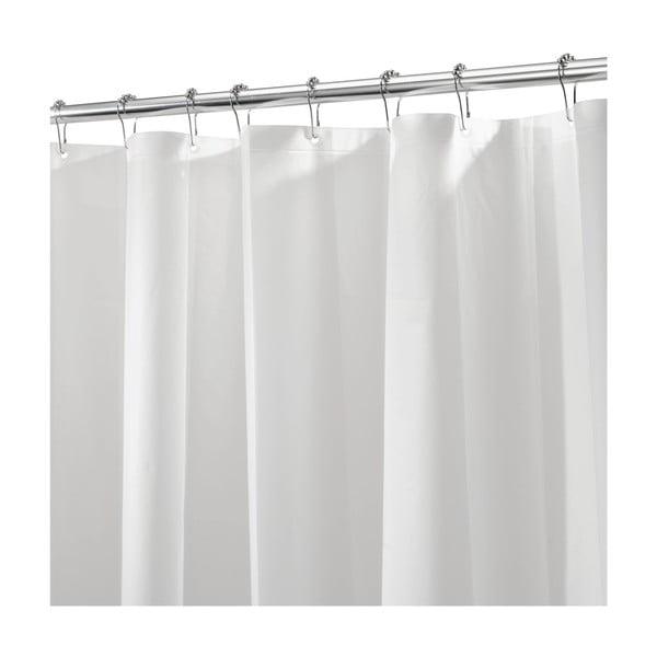Bílý sprchový závěs iDesign, 200x180cm