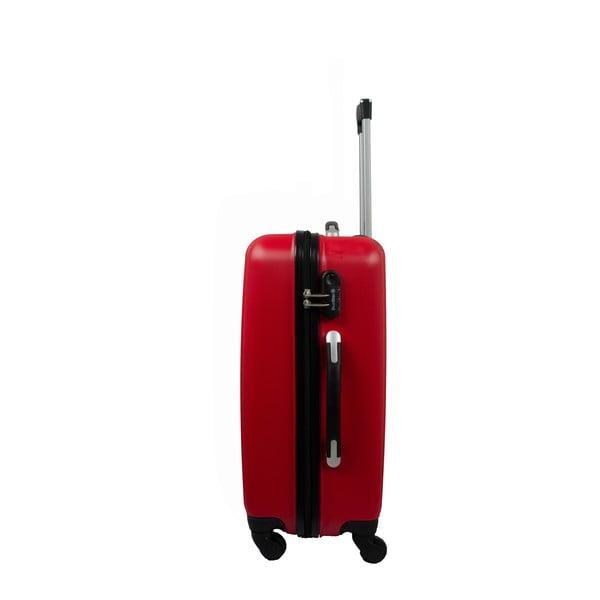 Sada 3 kufrů Brand Developpement Roues Cadenas Red, 105 l/72 l/40 l
