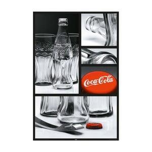Plakát Coca Cola Glass, 61x91 cm