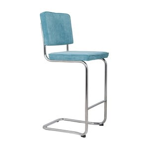 Modrá barová židle Zuiver Ridge Kink Rib