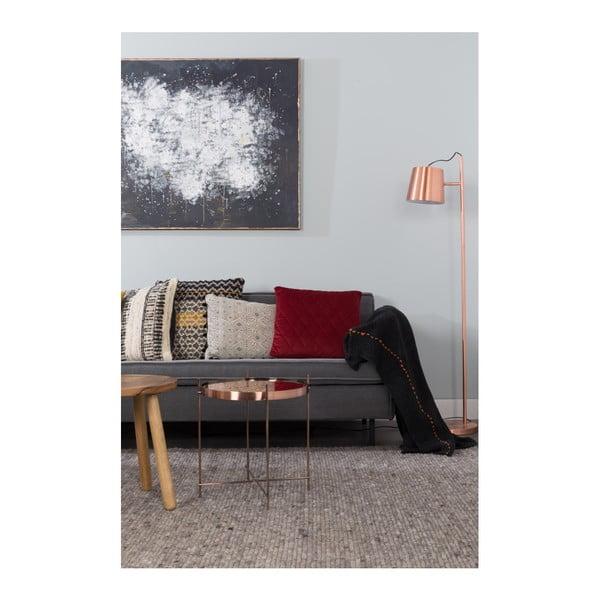 Černý pléd Zuiver Aster, 170 x 130 cm