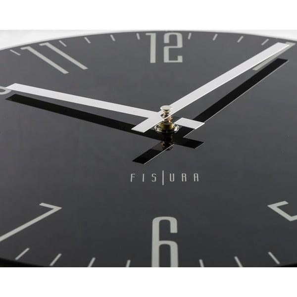 Hodiny Fisura Slim Black, 35 cm