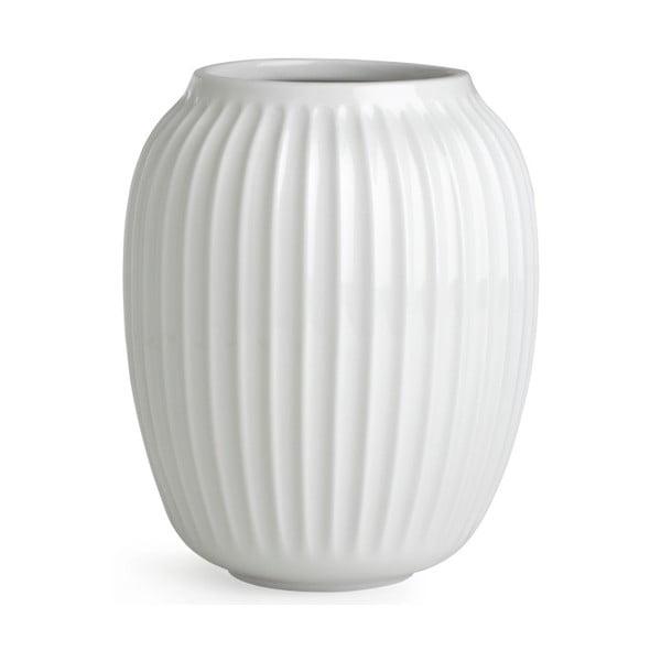Bílá kameninová váza Kähler Design Hammershoi,výška 20 cm
