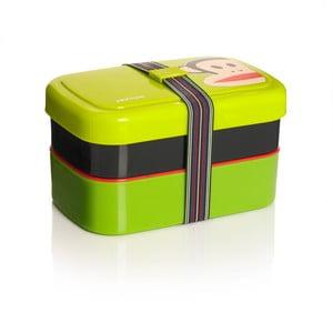 Dvoupatrový svačinový box Paul Frank, zelený