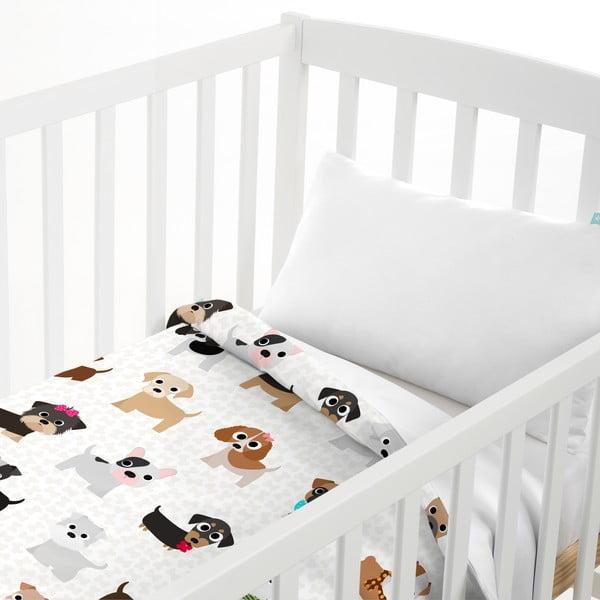 Dětský povlak na polštář a přehoz Mr. Fox Dogs, 100x130 cm