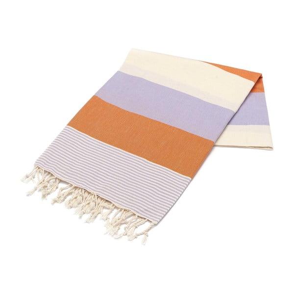 Prosop Hammam Amerikan, 100 x 180 cm, portocaliu - violet