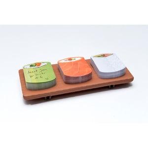 Sada poznámkových bločků Thinking gifts Sushi Notes