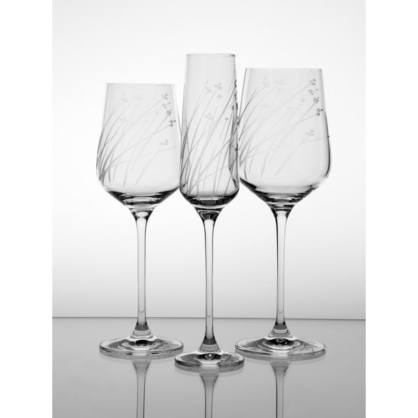 Ateliér Žampach, set 2 ks skleniček na bílé víno Len
