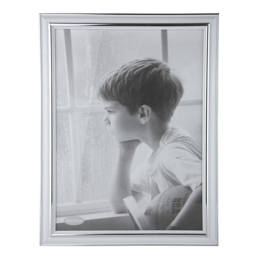 Fotorámeček KJ Collection Plain Silver, 40 x 30 cm