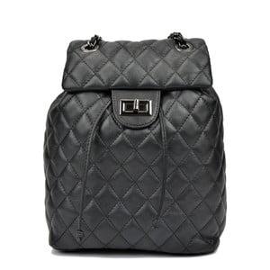 Černý dámský kožený batoh Anna Luchini Mirma