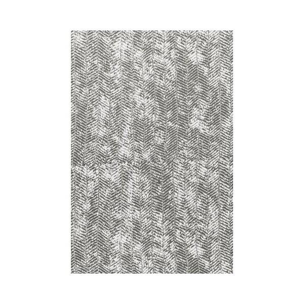 Šedá deka Hawke&Thorn Herringbone, 130x180cm