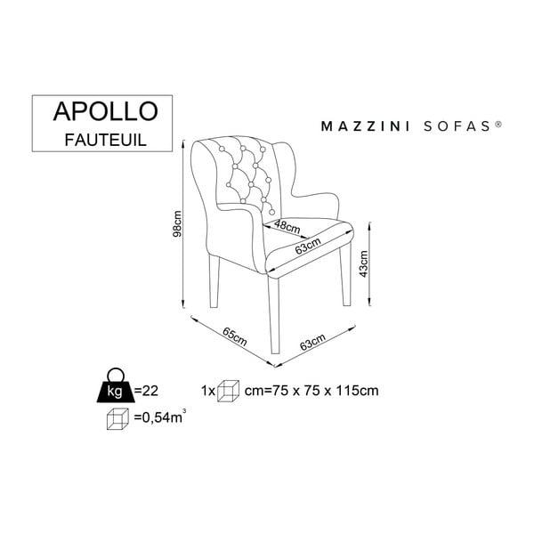 Světle šedé křeslo Mazzini Sofas Apollo