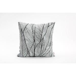 Černobílá povlak na polštář Mikabarr Pinion, 45 x 45 cm