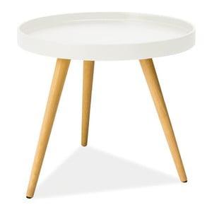 Konferenční stolek Toni 50 cm, bílý