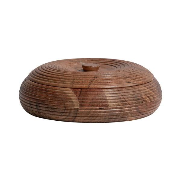Přírodní dóza z akáciového dřeva BePureHome, 20 x 7 cm