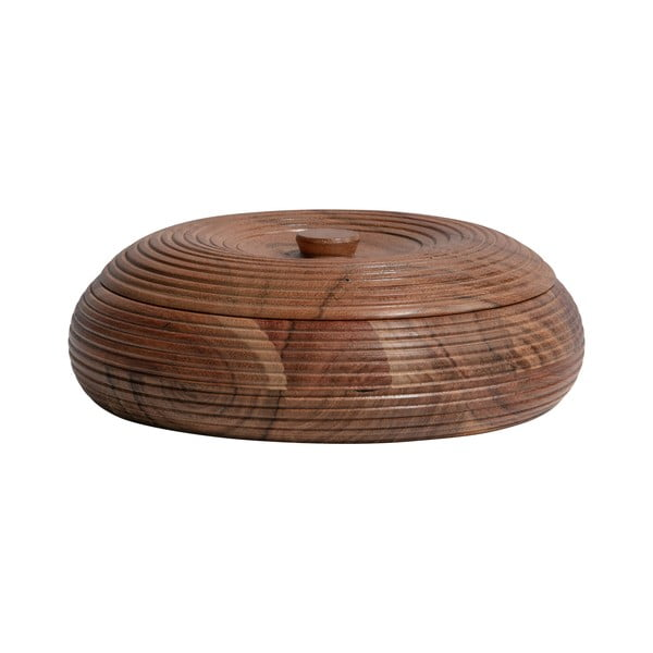 Recipient din lemn de salcâm BePureHome, 20 x 7 cm