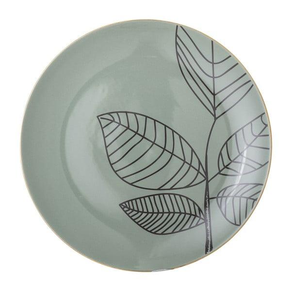 Zelený keramický mělký talíř Bloomingville Rio, ⌀22 cm
