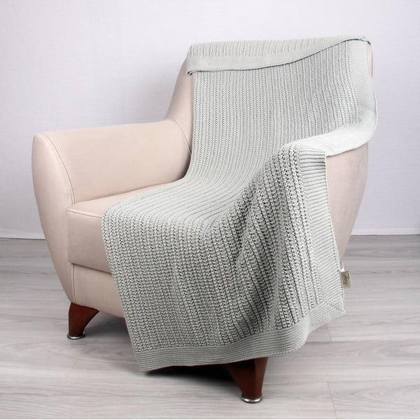 Mentolově modrá bavlněná deka Homemania Clen, 170x130cm