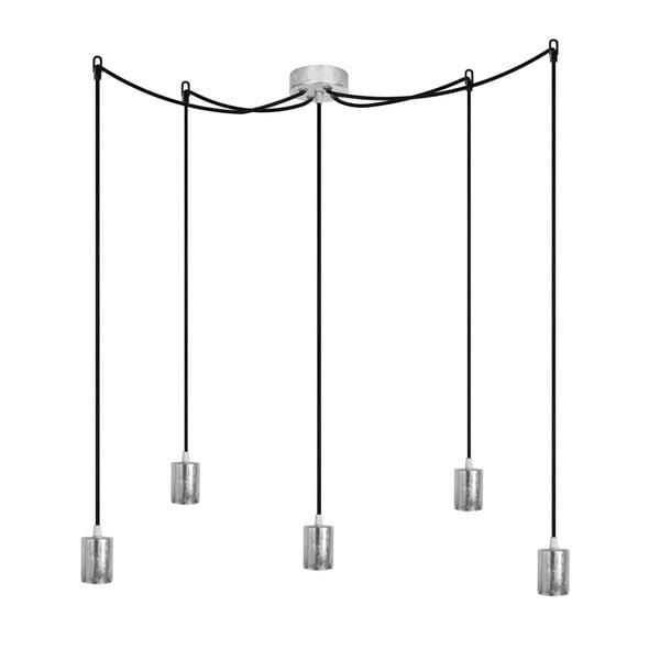 Pět závěsných kabelů Cero, stříbrná/černá/stříbrná