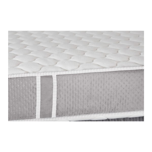Šedá postel s matrací Stella Cadente  Syrius, 140x200cm