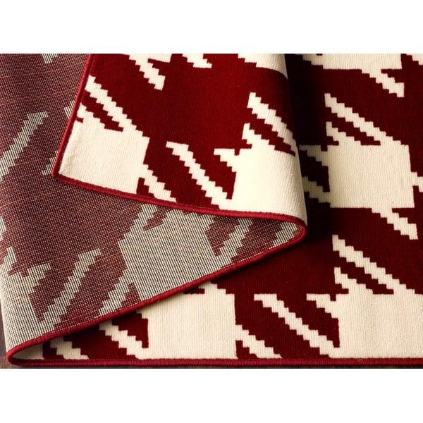 Červený koberec Designela, 160x225 cm