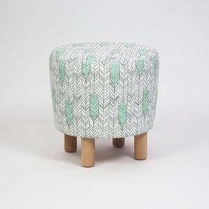 Taburet s dřevěnými nohami Cono Pluma, ⌀41cm