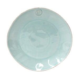 Tyrkysový servírovací talíř z kameniny Costa Nova,⌀33 cm