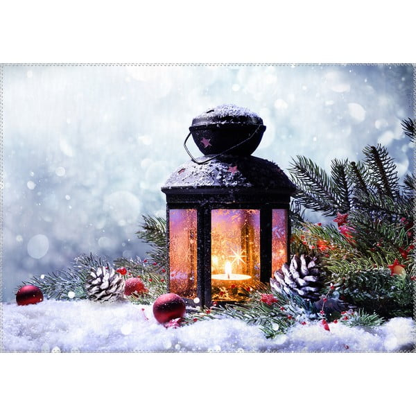 Covor Vitaus Christmas Period Lantern With Snow, 50 x 80 cm