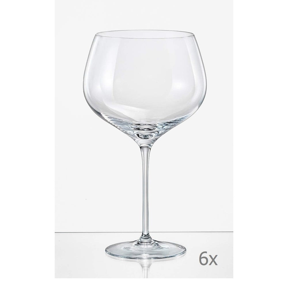 Sada 6 sklenic na víno Crystalex Megan, 700 ml