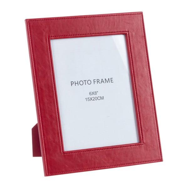 Koženkový fotorámeček Red, 22x27 cm