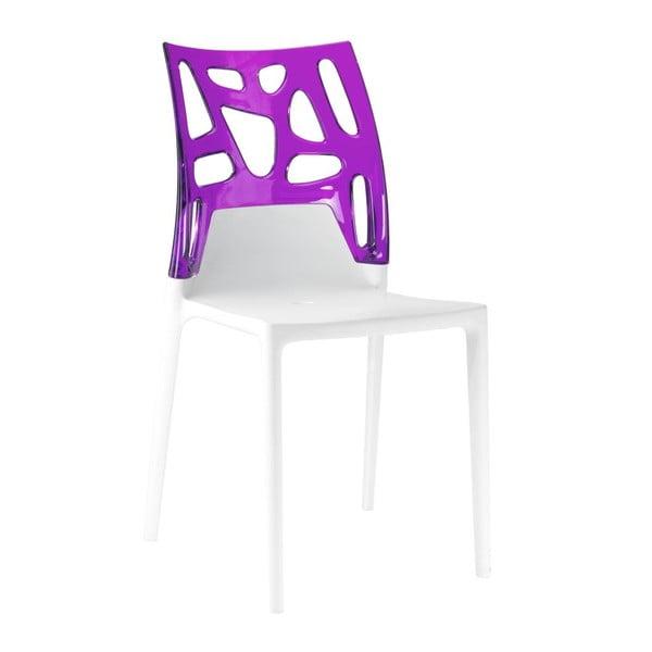 Židle Ego Rock, white/violet