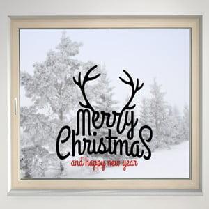 Elektrostatická samolepka Merry Christmas