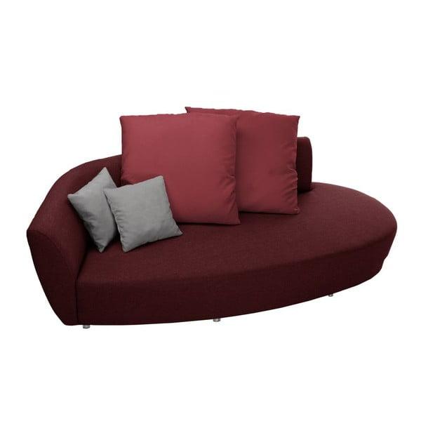 Canapea cu trei locuri Florenzzi Viotti, spătar pe partea stângă, roșu