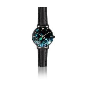 Dámské hodinky s černým páskem z pravé kůže Emily Westwood Dream