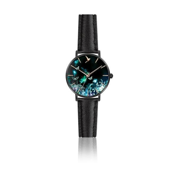 Damski zegarek z czarnym paskiem ze skóry naturalnej Emily Westwood Dream
