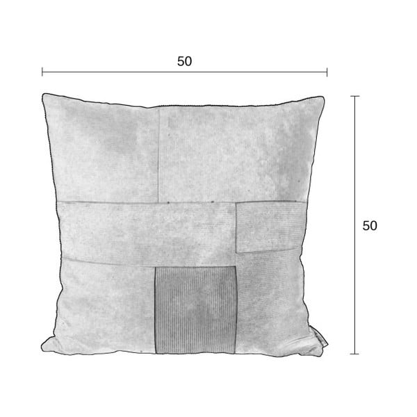 Vzorovaný polštář s výplní Zuiver Ridge, 50x50cm
