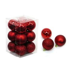 Set 12 decorațiuni de Crăciun Unimasa Navidad, roșu